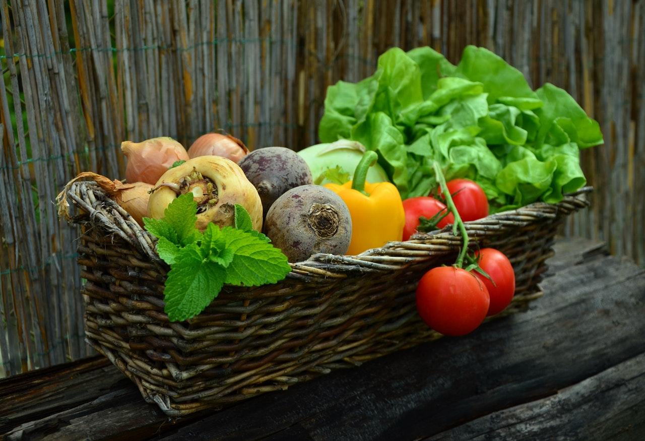 Une récolte de légumes sur un balcon